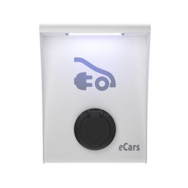 Бяла зарядна станция за електромобили АЯ.