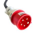 Адаптер за зареждане на електромобили CEE32 контакт към CEE16 щепсел.